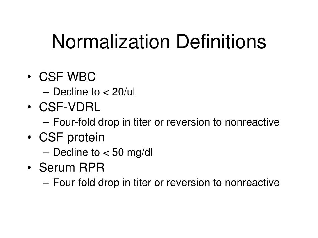 Normalization Definitions