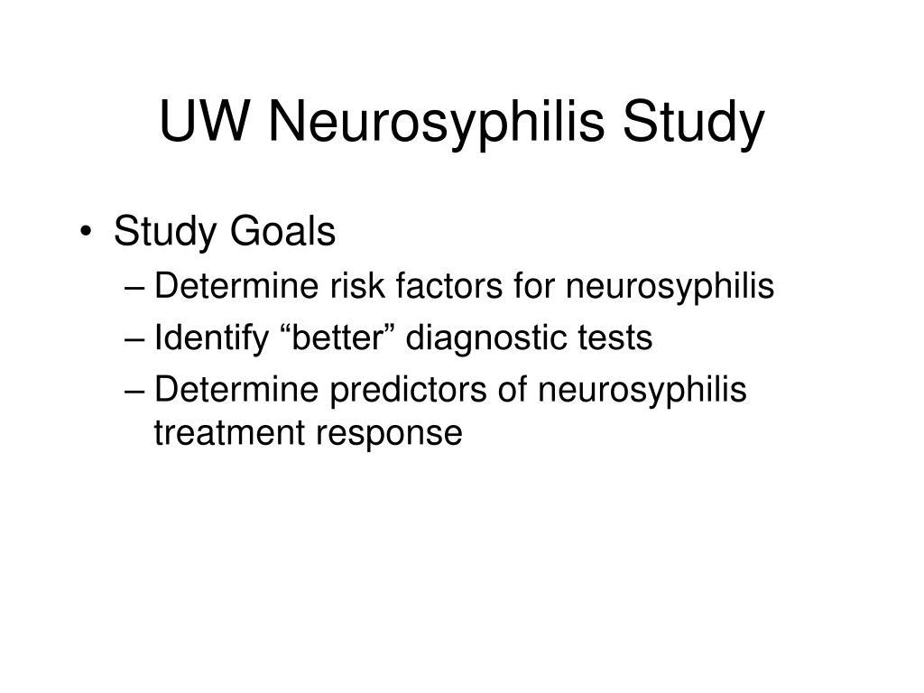 UW Neurosyphilis Study