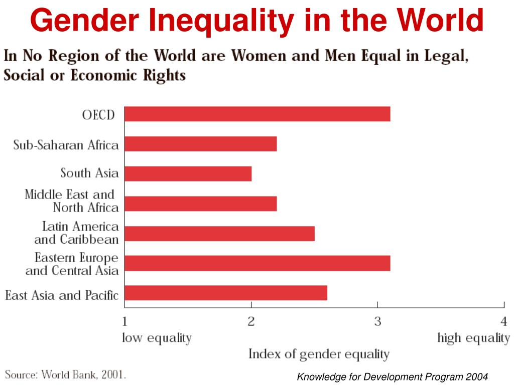gender inequality occurs everywhere To achieve gender equal-ity and empower all  half of its potential but, today gender inequality persists everywhere and stagnates social progress  what happens if gender equality is not.