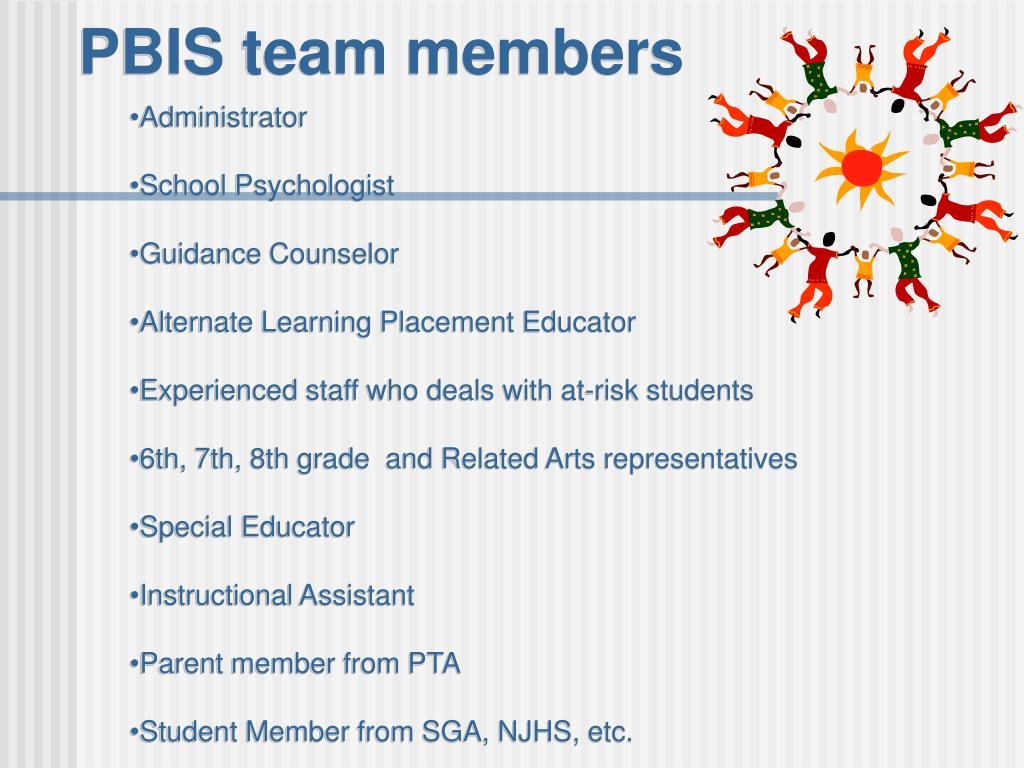 PBIS team members