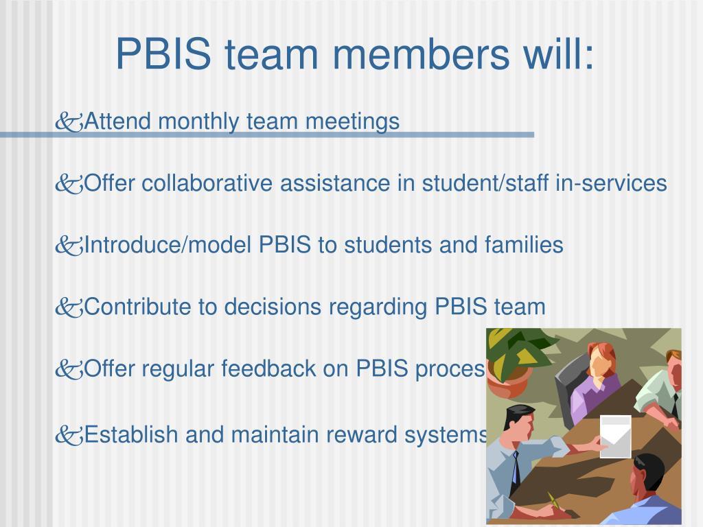 PBIS team members will:
