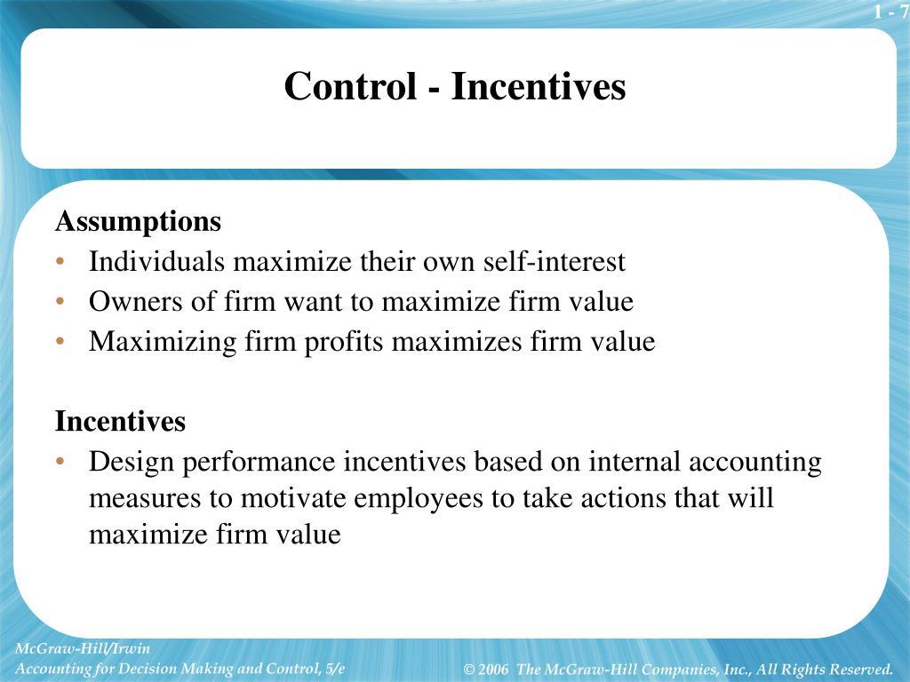 Control - Incentives