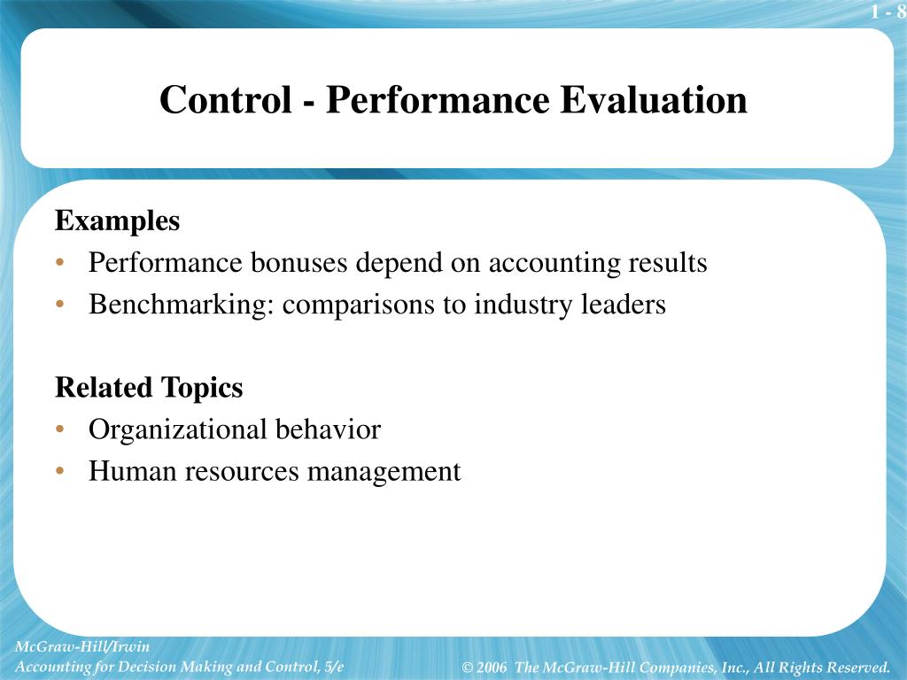 Control - Performance Evaluation