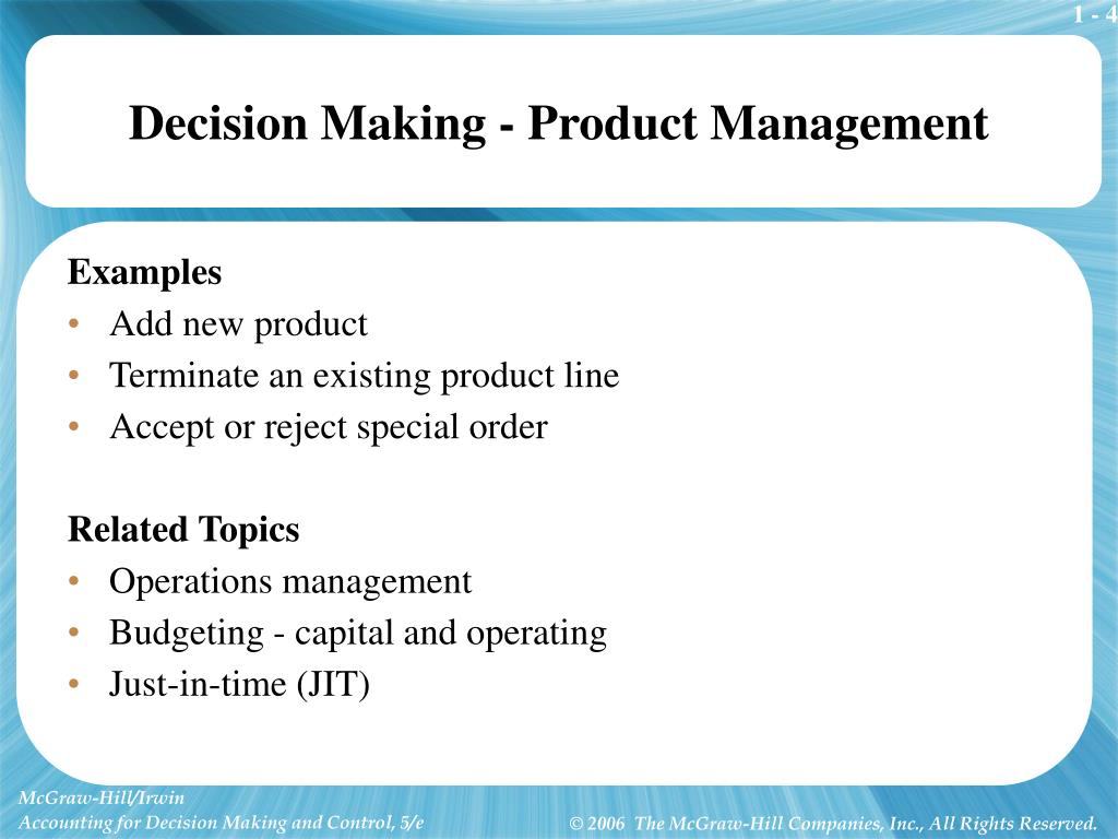Decision Making - Product Management