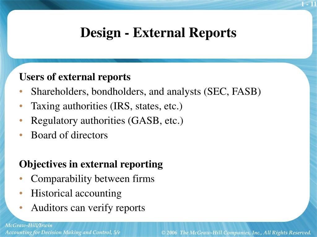 Design - External Reports