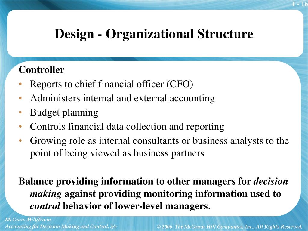 Design - Organizational Structure