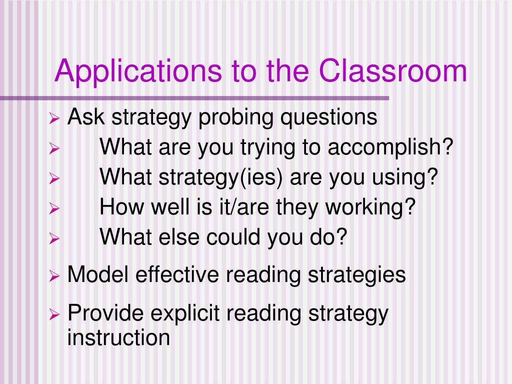 Applications to the Classroom