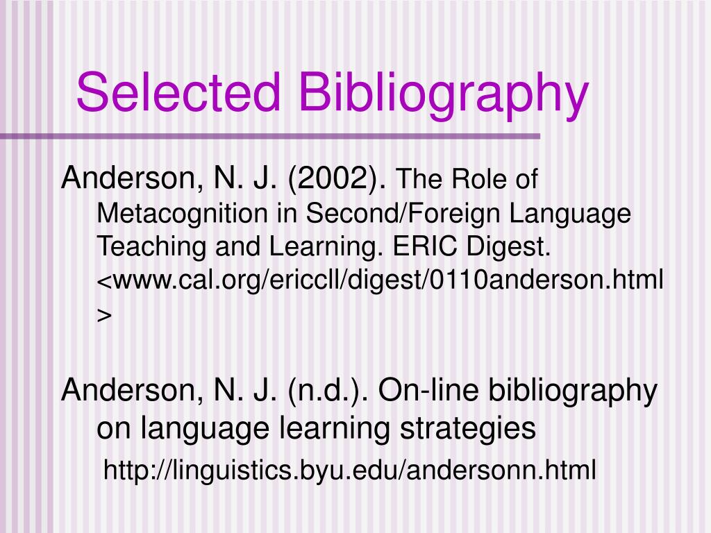 Selected Bibliography