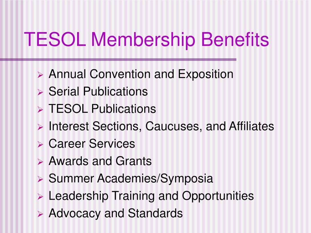 TESOL Membership Benefits