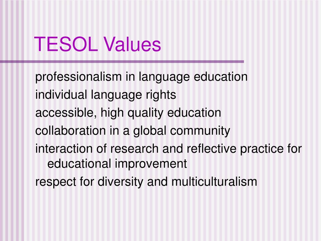 TESOL Values