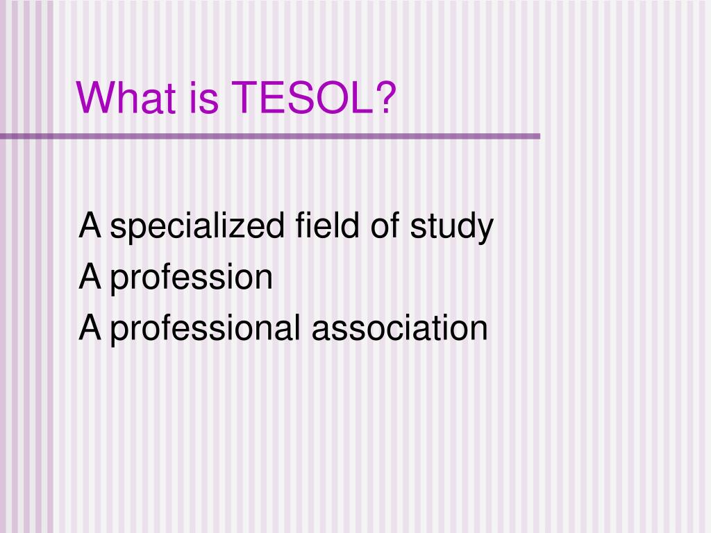 What is TESOL?