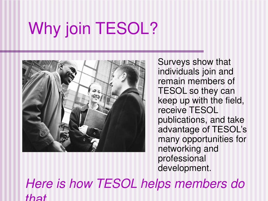 Why join TESOL?