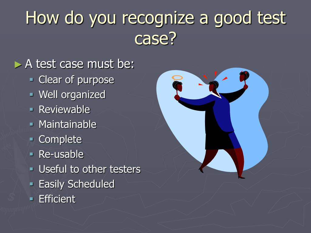 How do you write a test case