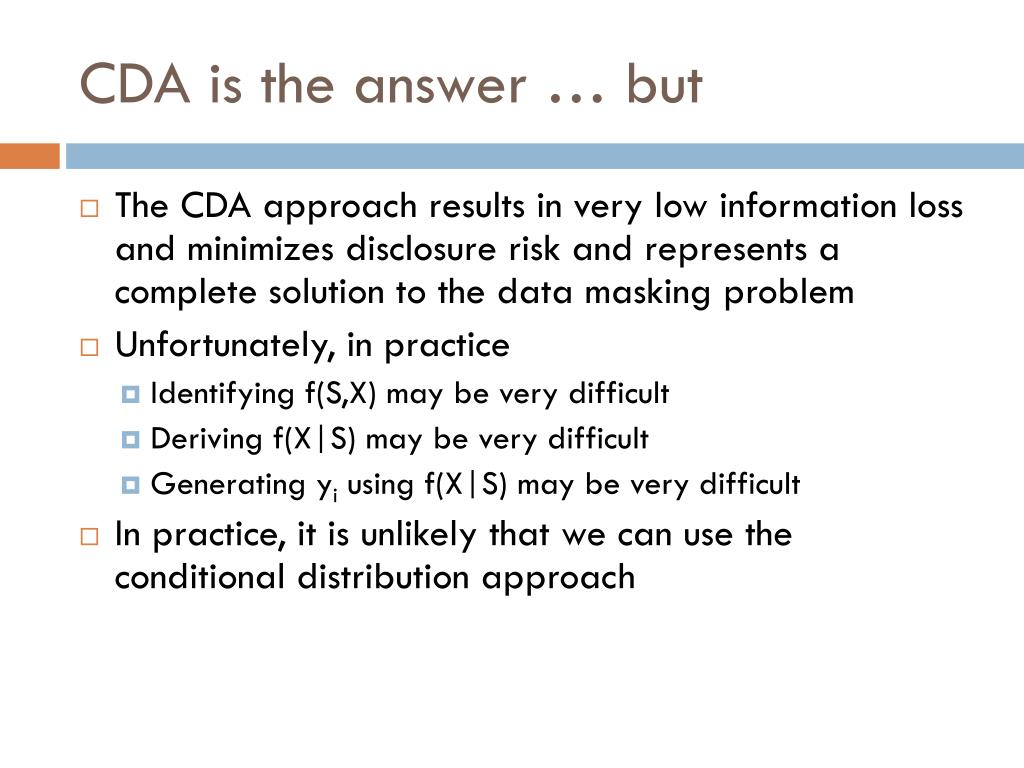CDA is the answer … but