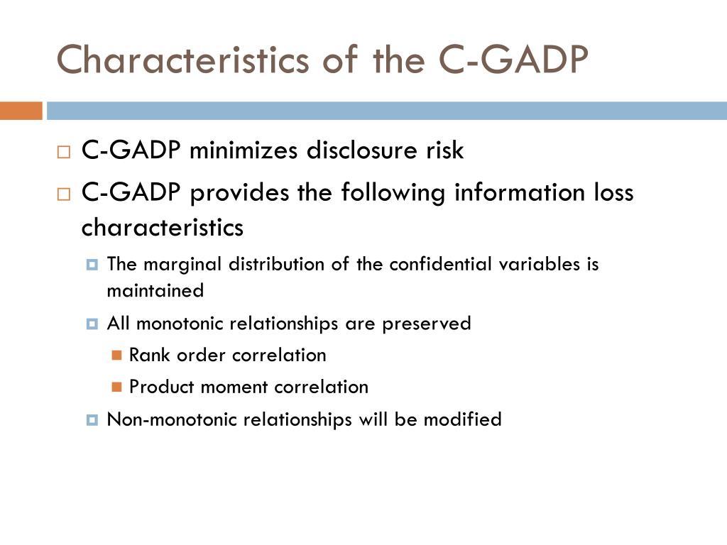 Characteristics of the C-GADP