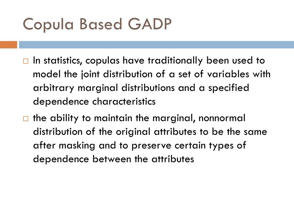 Copula Based GADP