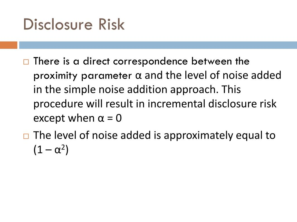 Disclosure Risk