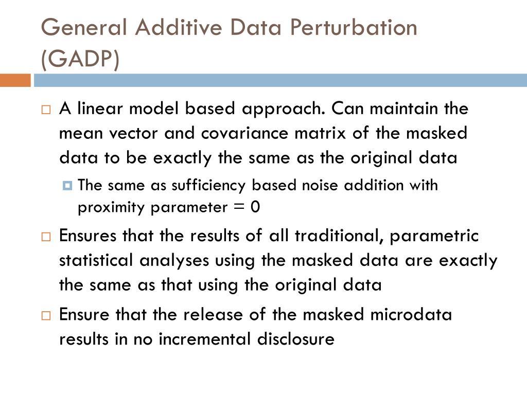 General Additive Data Perturbation