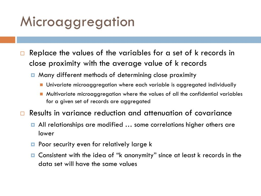 Microaggregation