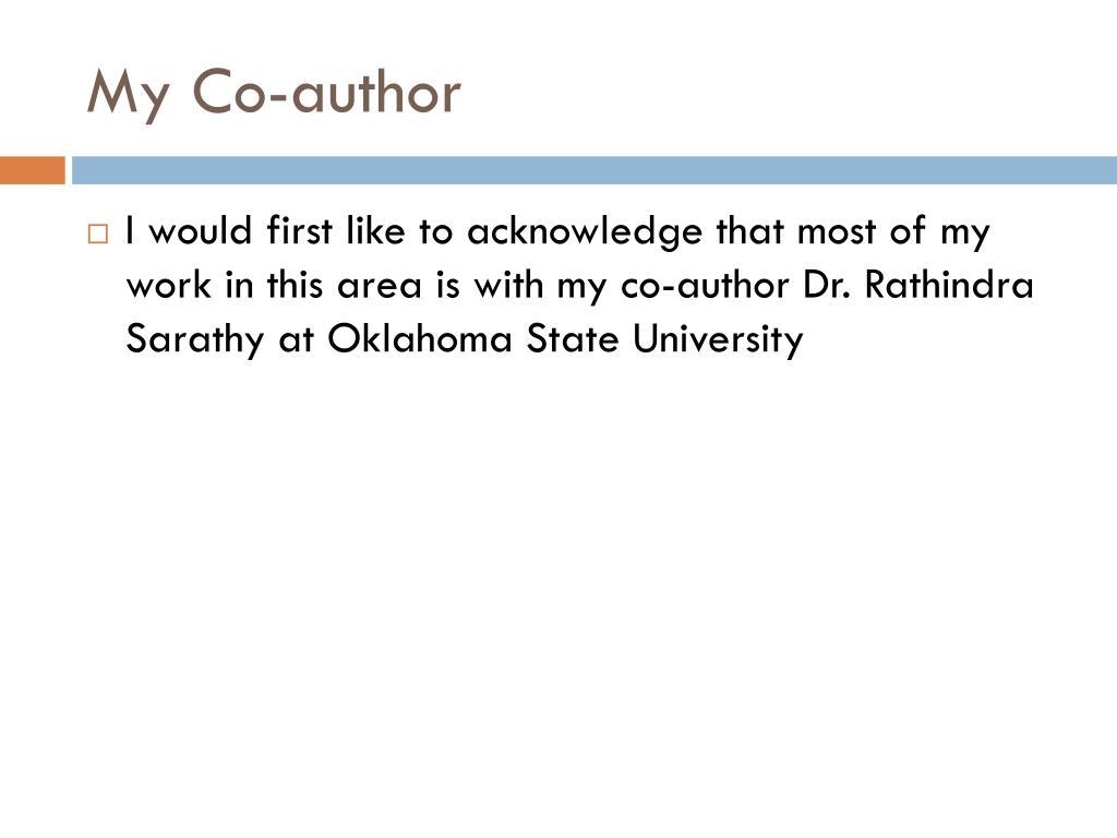My Co-author
