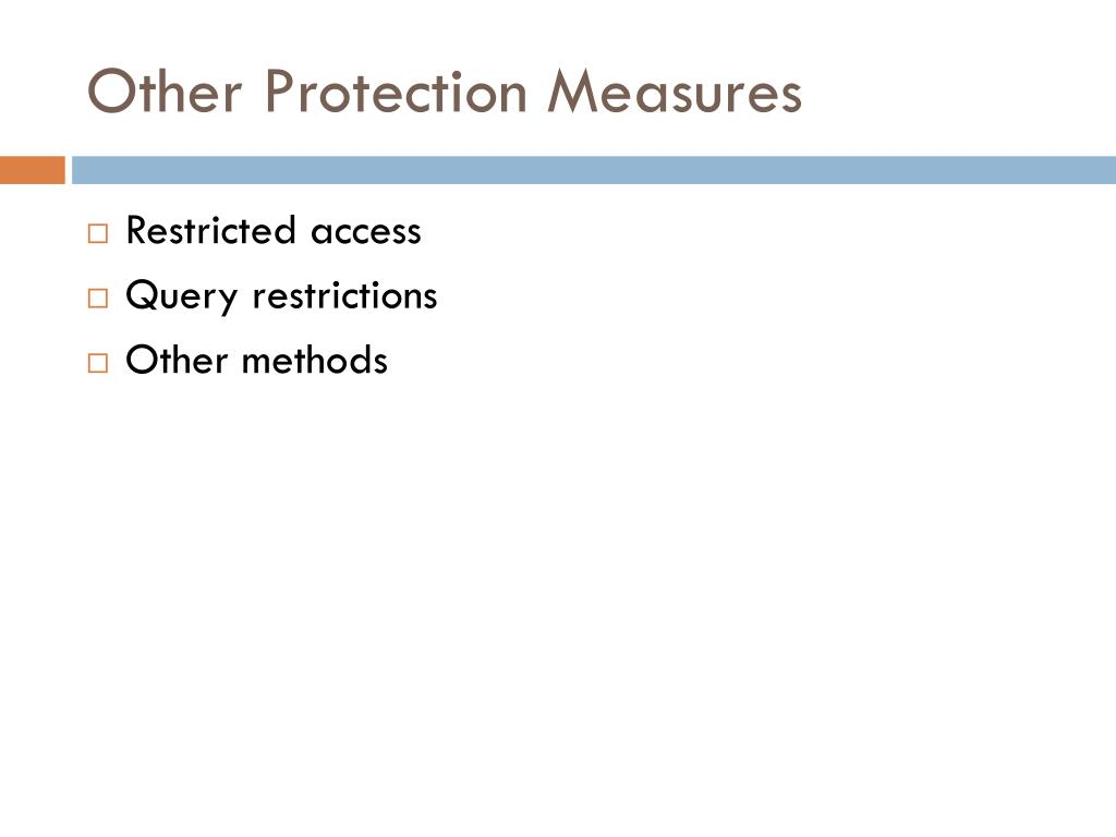 Other Protection Measures