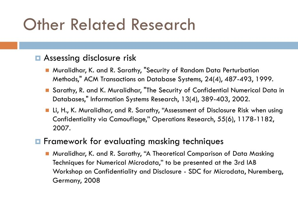 Other Related Research