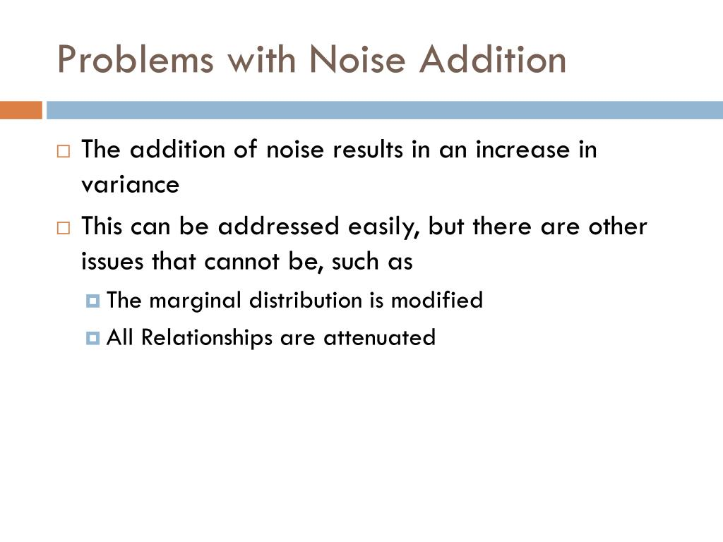 Problems with Noise Addition