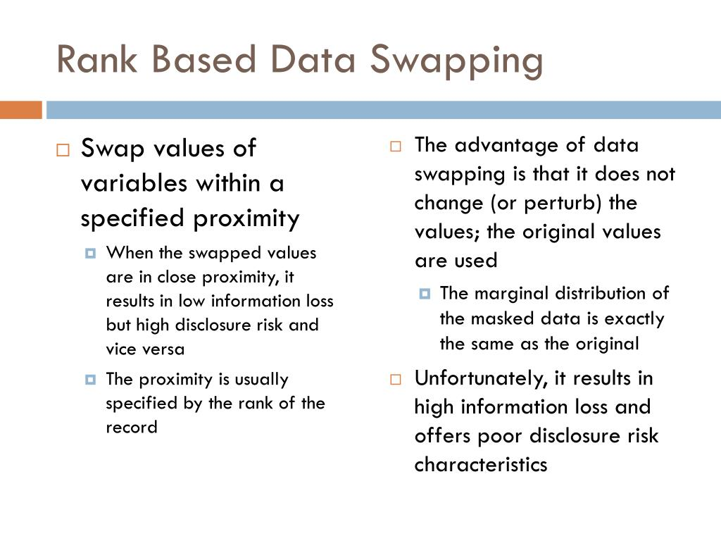 Rank Based Data Swapping