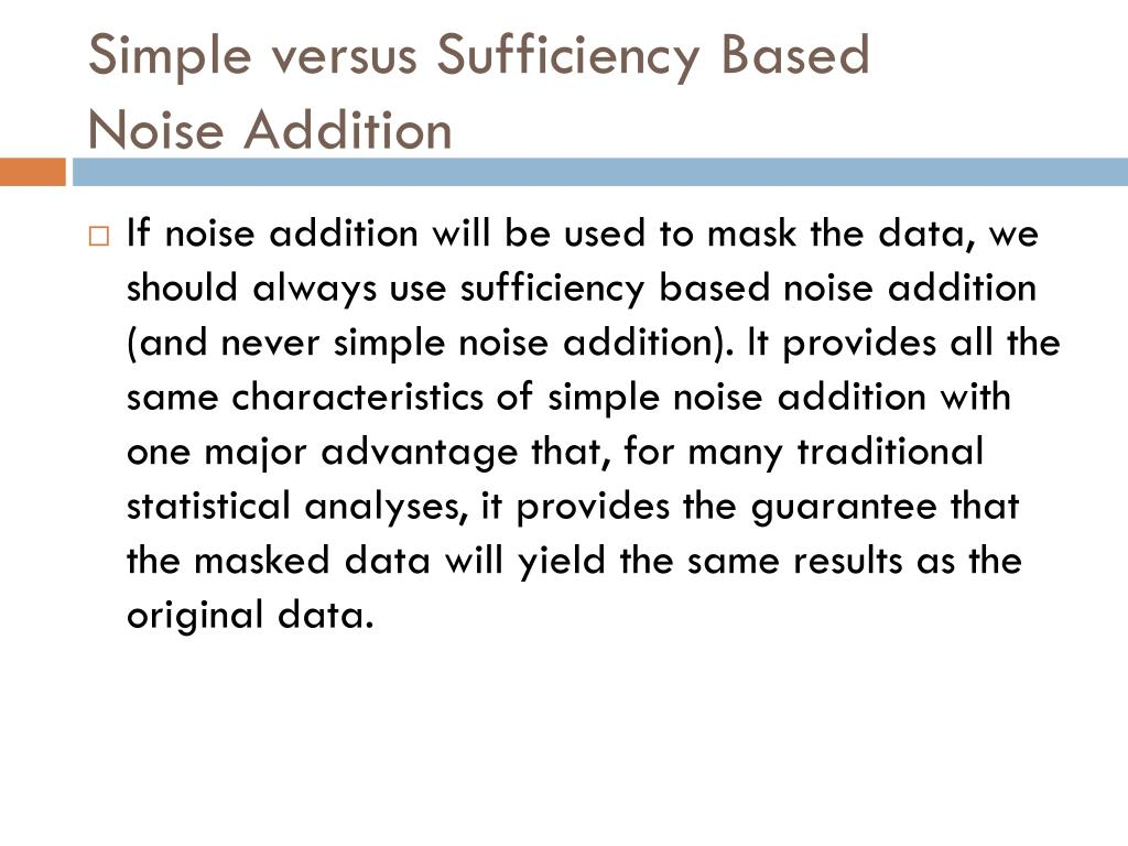 Simple versus Sufficiency Based