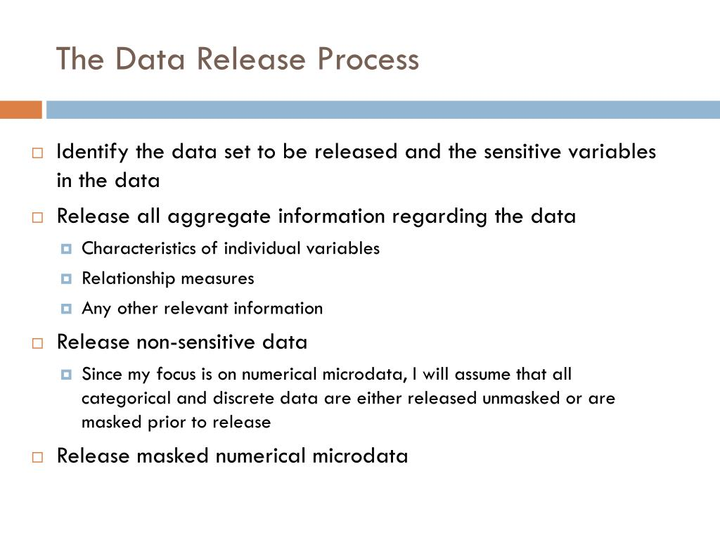 The Data Release Process