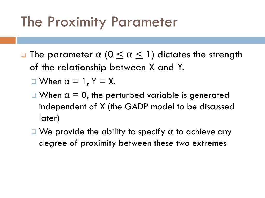 The Proximity Parameter