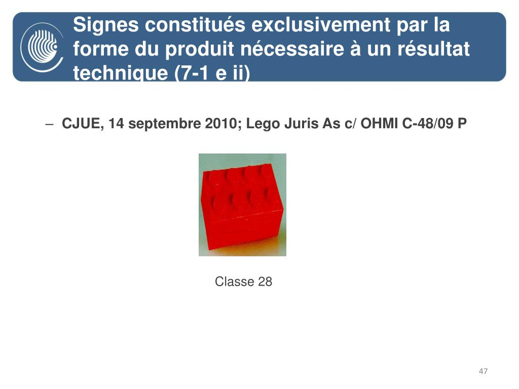 CJUE, 14 septembre 2010; Lego Juris As c/ OHMI C-48/09 P