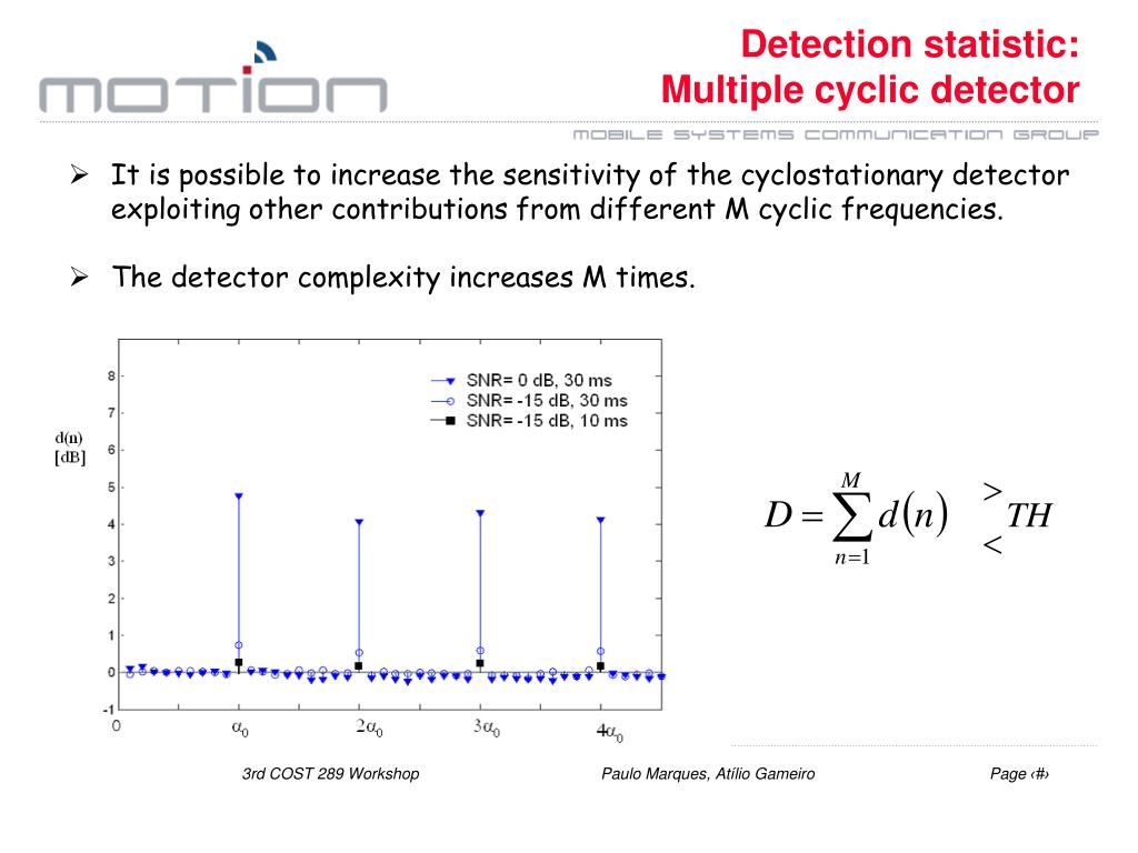 Detection statistic:
