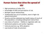 human factors that drive the spread of hiv
