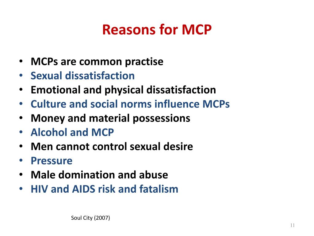 Reasons for MCP