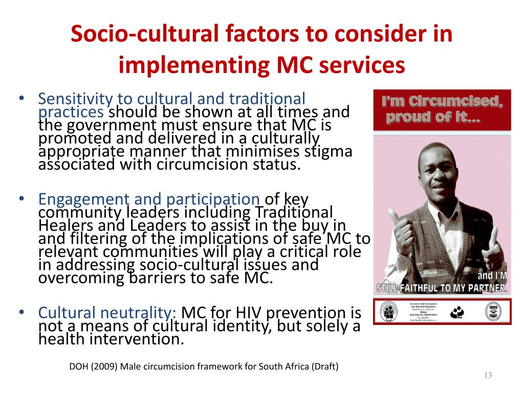 Socio-cultural factors to consider in implementing MC services