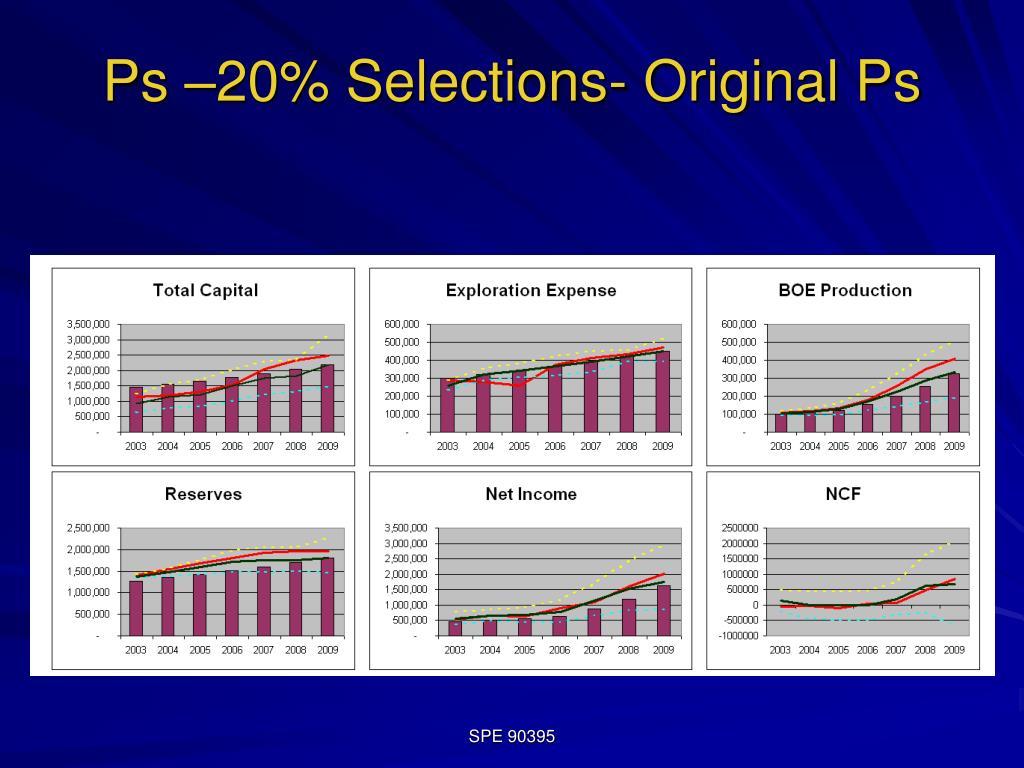 Ps –20% Selections- Original Ps