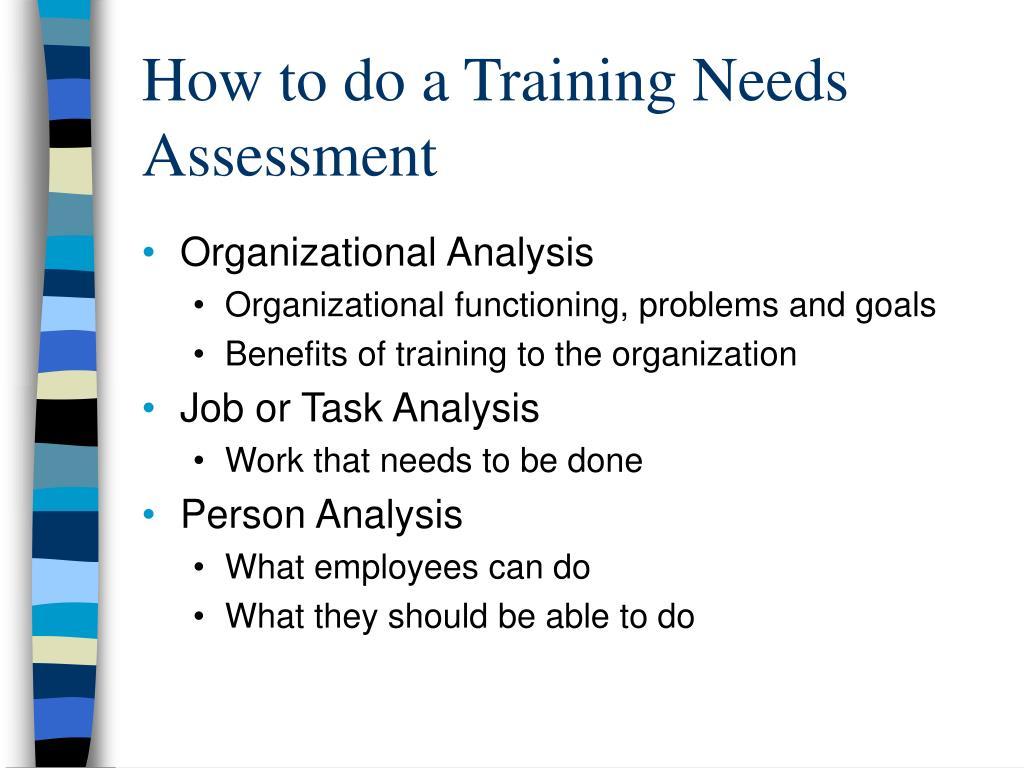 How to do a Training Needs Assessment