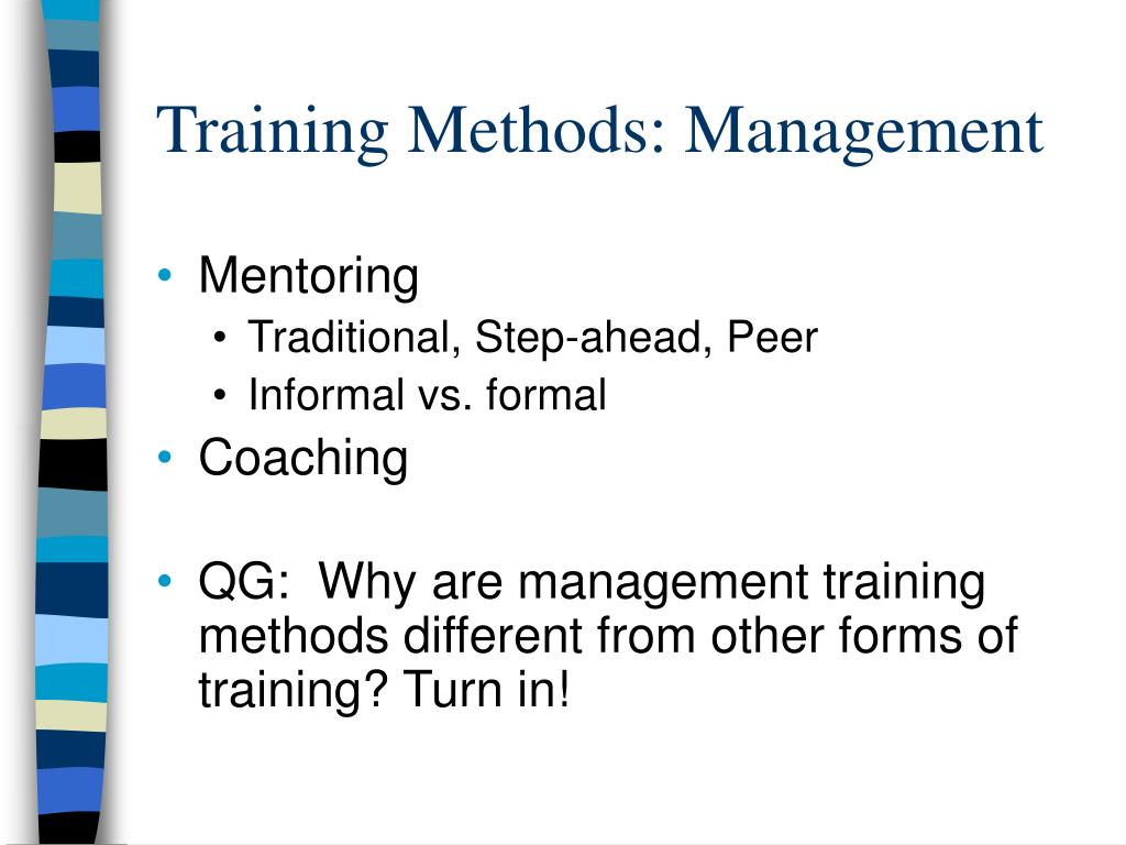 Training Methods: Management