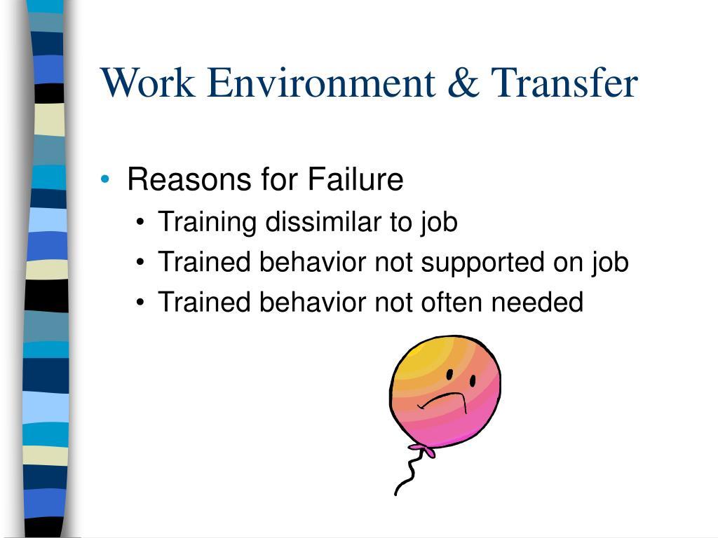 Work Environment & Transfer