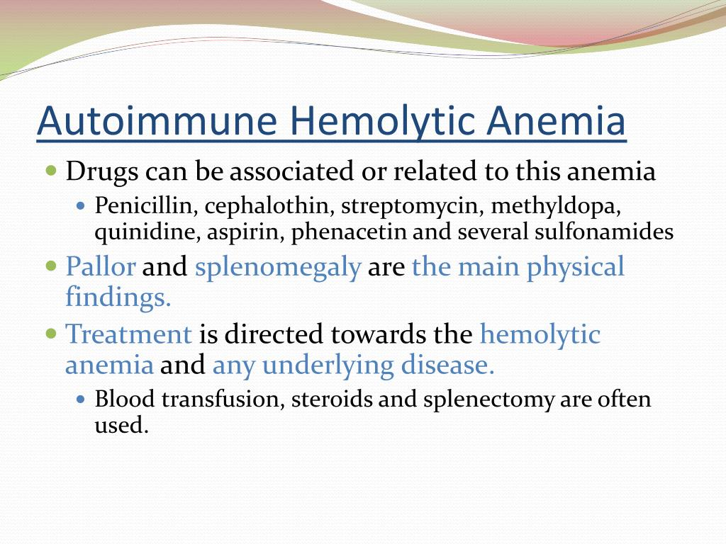 autoimmune disorders hemolytic anemia essay Although mesh uses the term autoimmune hemolytic anemia,  less commonly, it can be caused by concomitant autoimmune disorders drug-induced aiha, though rare, can be caused by a number.