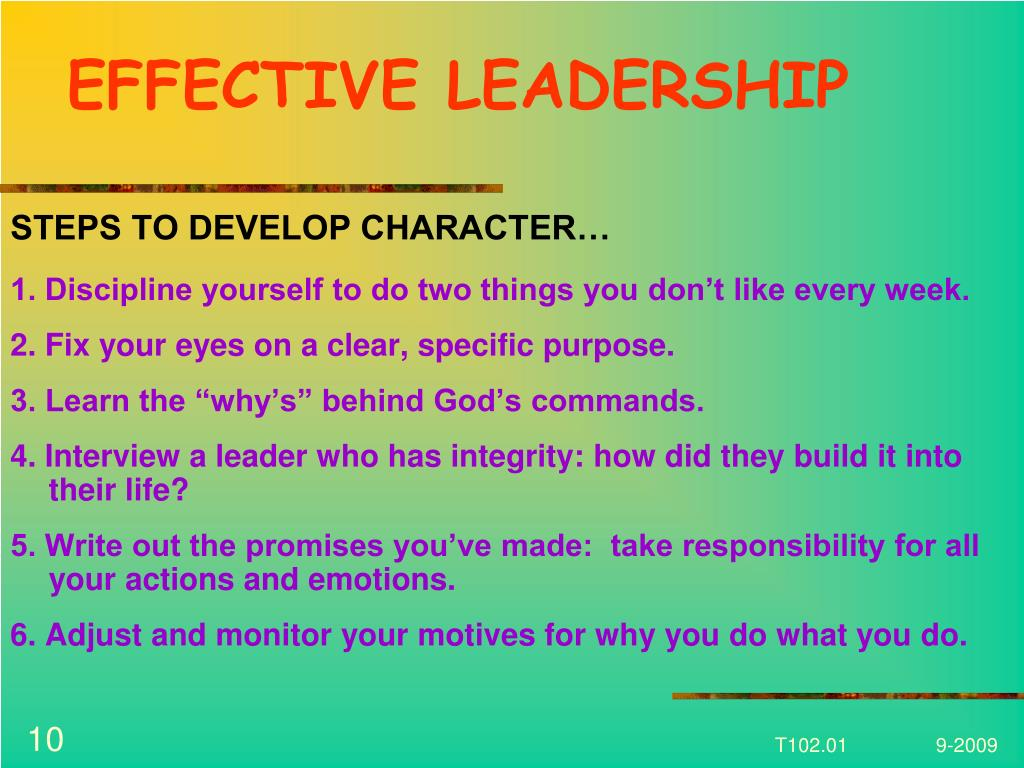 EFFECTIVE LEADERSHIP