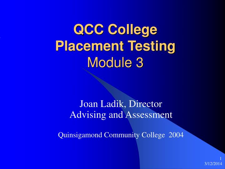 Qcc college placement testing module 3