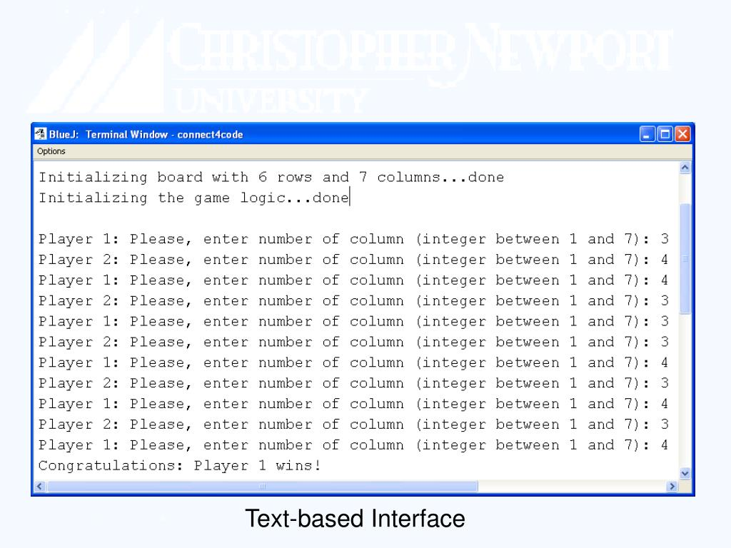 Text-based Interface