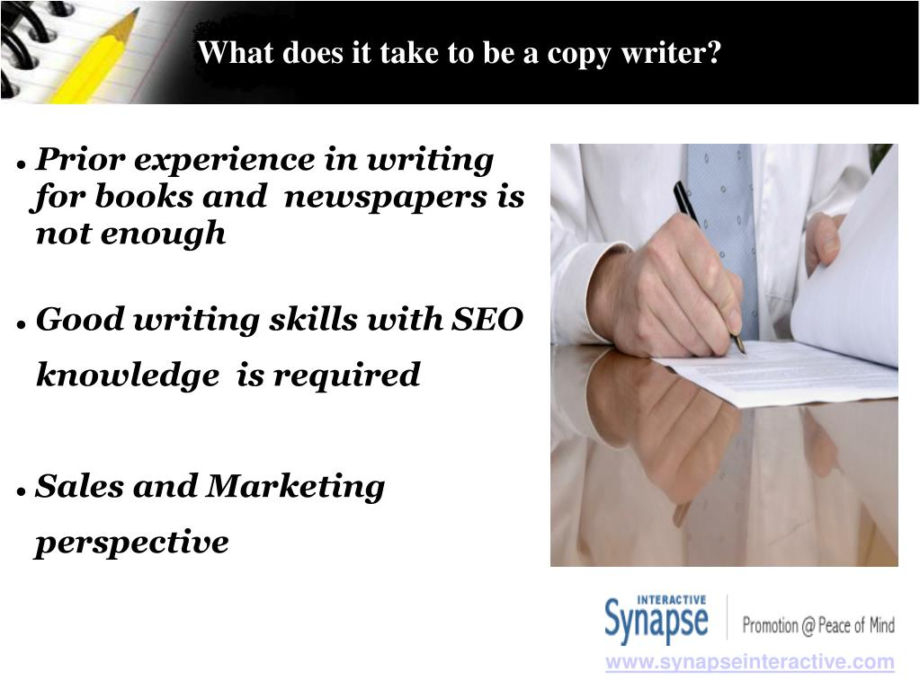 What does it take to be a copy writer?