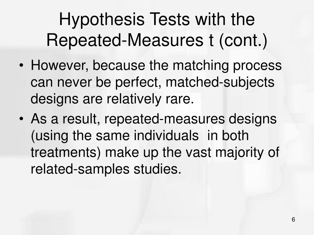 Hypothesis Tests with the Repeated-Measures t (cont.)