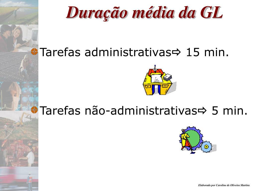 Duração média da GL