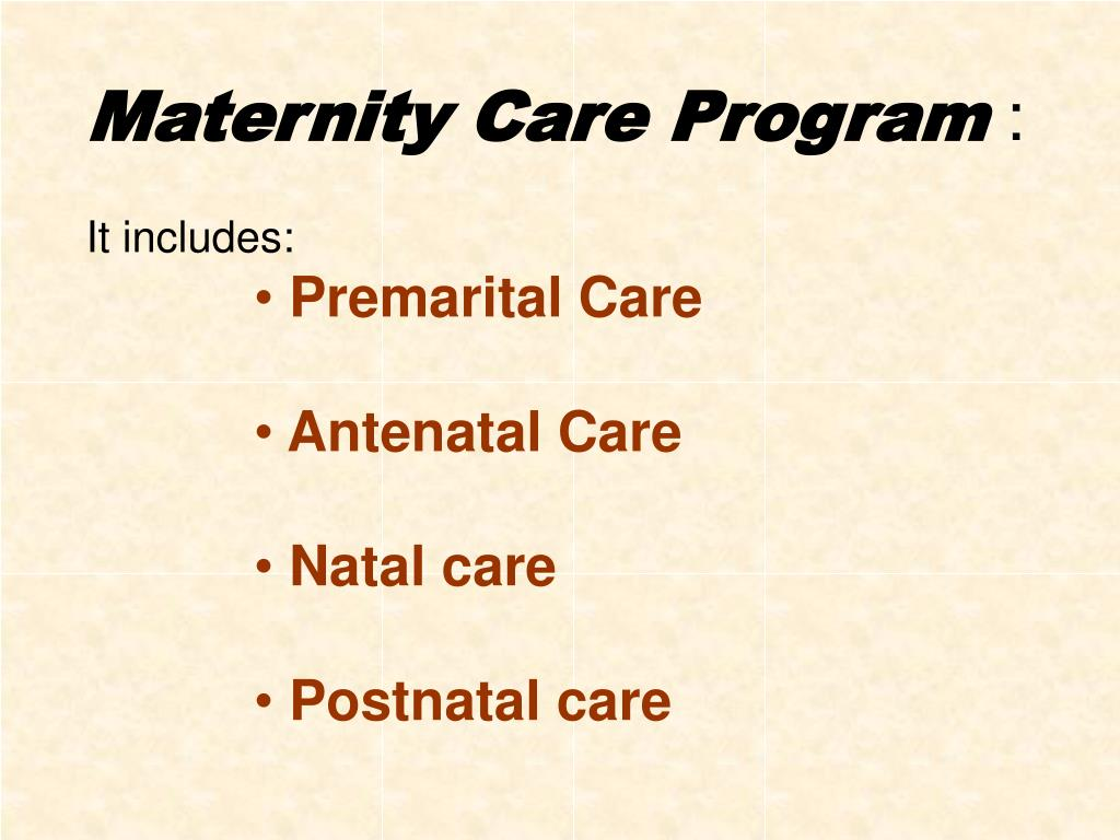 Maternity Care Program