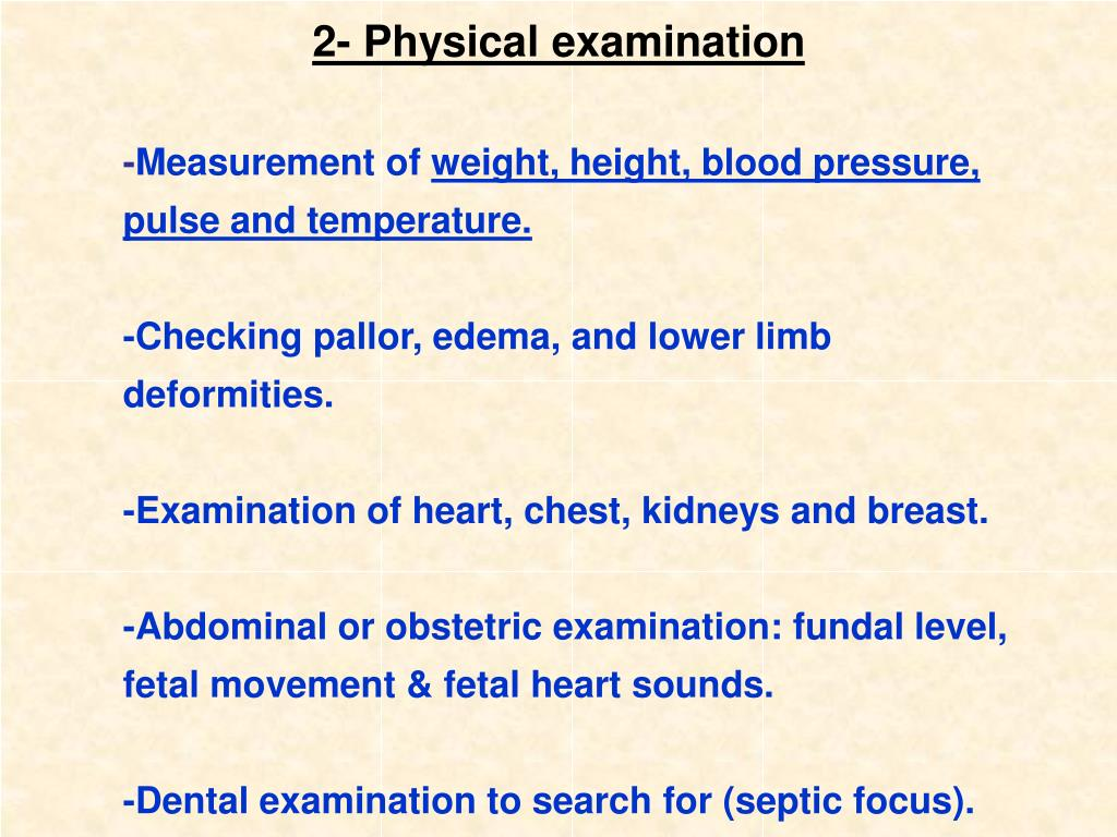 2- Physical examination