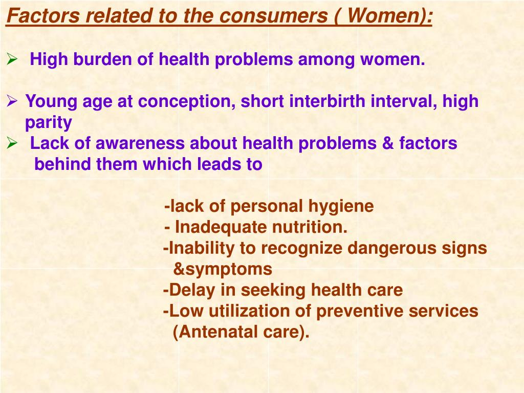 Factors related to the consumers ( Women):